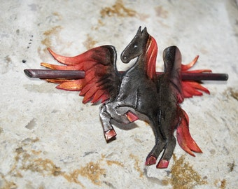 Winged nightmare hair stick - this one available now