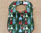 Christmas Tree Cloth Baby Bib