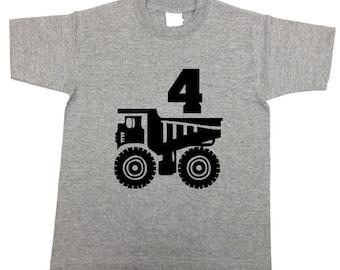 Dump Truck birthday shirt, dump truck shirt, dump truck tshirts, dump truck t-shirt, toddler dump truck shirts kids dump truck shirt