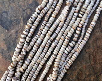 "Tiger Puka Shell Strand (24"" x 4-6mm)"