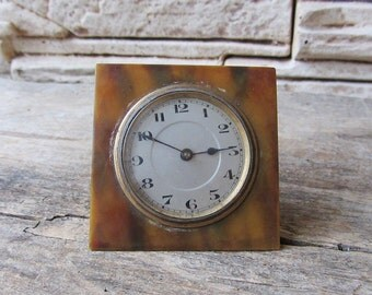 Ultra Rare Antique Clock Roskopf  Working Swiss Made Clock Retro Clock Desk Clock Unique Clock Rare Vintage Clock Old Clock Collectible