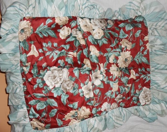 8 pc Custom Drape Lined Curtain 50x89 Each Panel Valence Pillow Sham Lot Romantic Cottage Shabby Chic Rose Floral