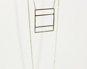 Linear Rectangle Necklace