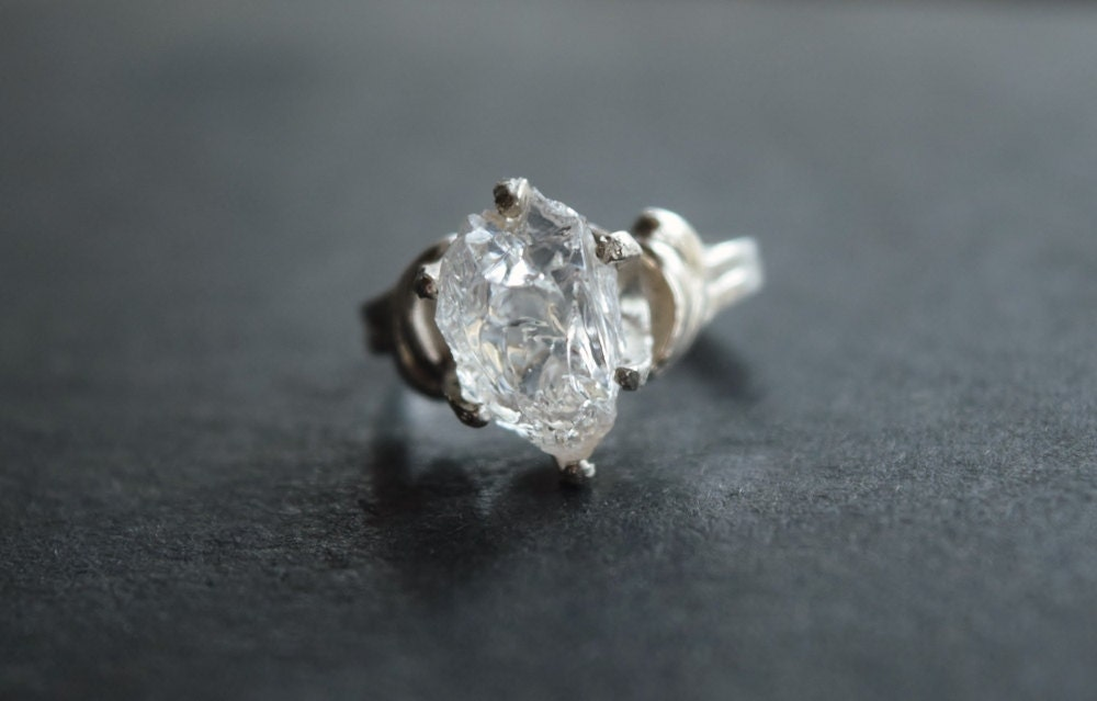 Raw Diamond Engagement Ring Size 5 Rough Natural Uncut Wedding