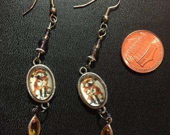 Zombie Fox Earrings