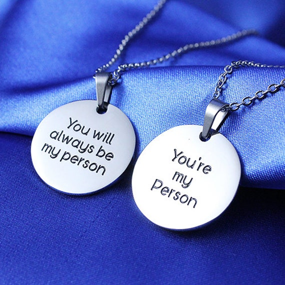 You're my Person You will always be my Person Necklace