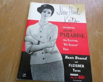 Vintage Knitting Book 1962 Bear Brand & Fleisher Yarns Vol. 70