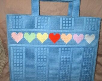 Handmade Plastic Canvas Handbag