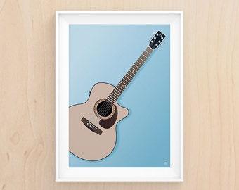 Play me a tune - Illustration - Printable Art