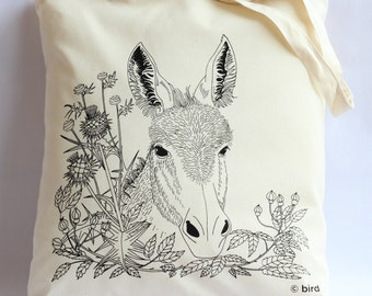 Through the hedge 'Donkey' Cotton Tote Bag