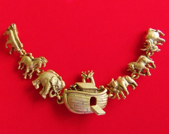 Sale/AJC  Noah's Ark Bracelet With Animals Two By Two