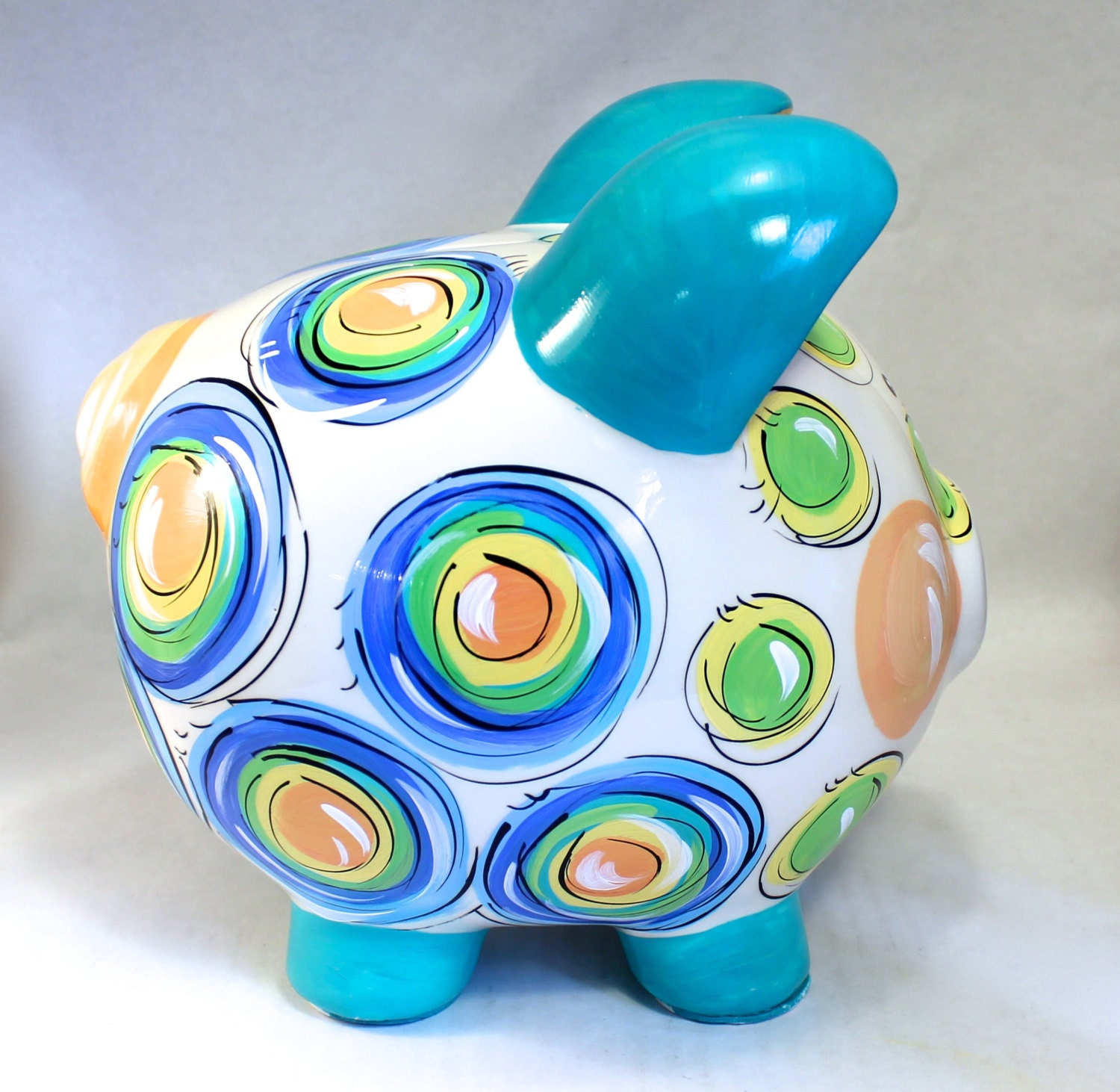 Piggy bank for boys ceramic piggy bank by dakrisinclair on etsy - Coin banks for boys ...