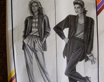 Misses' Elastic Waist Pants Stretch and Sew Sewing Pattern 724