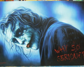 "Joker painting oil painting on canvas 32""X48"""