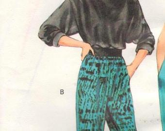 "SALE** Kwik Sew 1638, Sz 8-18/XS-L/Hips 32-43"". Easy Loose Fitting Ladies Cuffed Ankle Pants"
