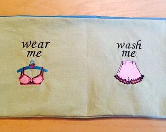 Wear Me/ Wash Me Travel Lingerie Bag