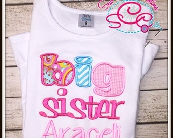 Personalized Big Sister Shirt/Bodysuit