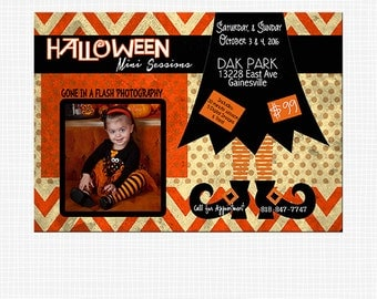 HALLOWEEN MINI SESSION Template,Photography Marketing Board,Digital Flier,Blog,Facebook,Fall Promotion,Witch