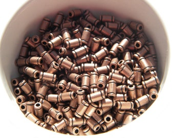 30 Copper Tube Beads - 6mm