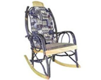 Amish Bentwood Rocker Cushion Set Double-Sided - Woodsman Fabric