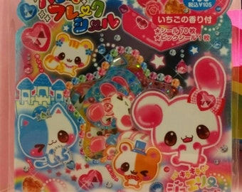 KAWAII Cute Sticker Flakes Sack 71 pcs
