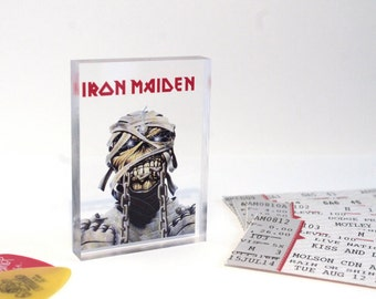 Iron Maiden 'Eddie' Clear Printed Acrylic Token - Gift Ideas // Small Gifts // Unique // Rock // Metal // Gifts for him / her