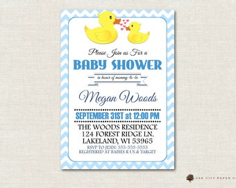 Rubber Ducky Baby Shower Invitation, Rubber Ducky Shower Invitation, Ducky Invitation, Rubber Ducky Baby Shower Invite, Instant Download