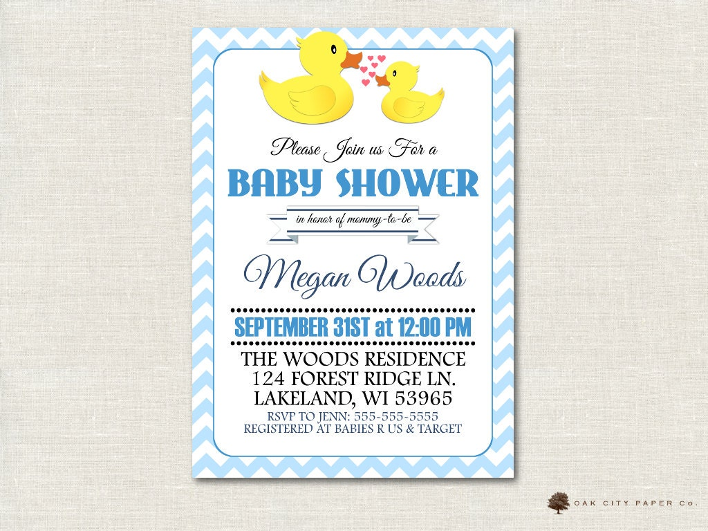 rubber ducky baby shower invitation rubber ducky shower