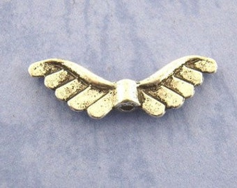 Angel Wing Beads 12 - 22mm x 7mm