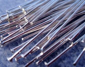50 - 50mm x 0.7mm Silver Head Pins