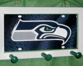 Seattle Seahawks License Plate Peg Hanger