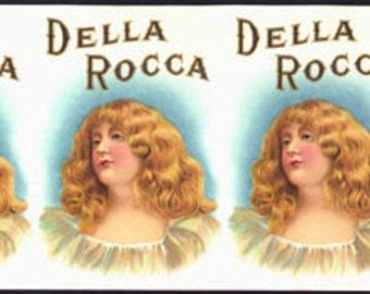 Spectacular Della Rocca Cigar Can Label