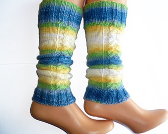Leg Warmers Acrylic Hand Knit Boot cuff Boot Toppers girls leg warmers Gaiters