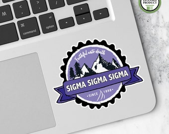 Sigma Sigma Sigma Tri Sigma | Small Badge Decal | Sorority Big Little Reveal Gift | Official Licensed Product | SSS-BD