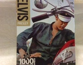 Elvis Presley on motorcycle 1000 piece jigsaw puzzle.