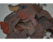 Leather Chromexcel Scrap 1 Pound Lining 3-4 ounce Earth Tone Colors Flexible TA-16388