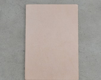 "Natural Leather Cow Hide Veg Tan 4"" x 6"" Pre-cut 3 1/2-4 ounces smooth JA-30224 (Sec. 3,Shelf 5,B, Box 1)"