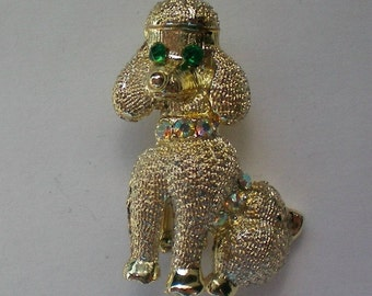 Petite Golden Poodle Dog Pin - 4080