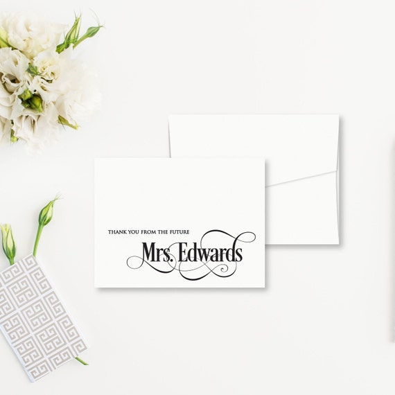 Wedding Bridal Shower Thank You Cards Thank By SoireeCustomPaperCo