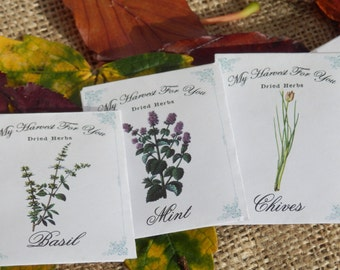 Wedding favors. Wedding favours. Dried herb favours.