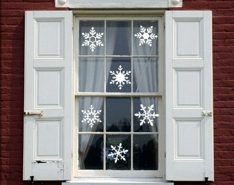 Snowflake Window Clings, Snowflake decorations, Christmas decorations, window decorations