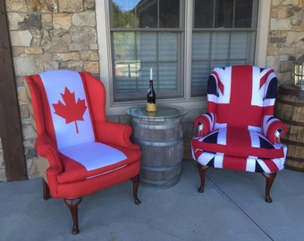 Canadian Maple Leaf Flag Chair