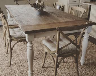 The Hilary - farmhouse table - farmhouse dinning table - dinning table - kitchen table