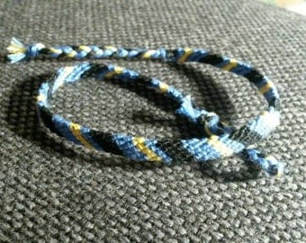 Simple blue, black and yellow friendship bracelet