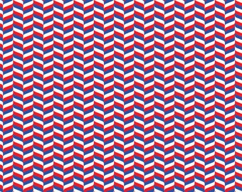 Red, blue and white craft  vinyl sheet - HTV or Adhesive Vinyl -  chevron herringbone zig zag pattern HTV3203