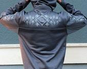 Mens Hoodie Water Resistant Zip Ninja Jacket - Sacred Geometry Clothing