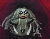 The Grey Lady Day of the Dead Miniature Art Doll