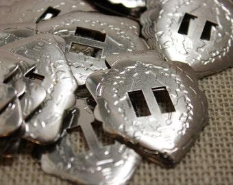 Silver Arrowhead Conchos (6 pieces)