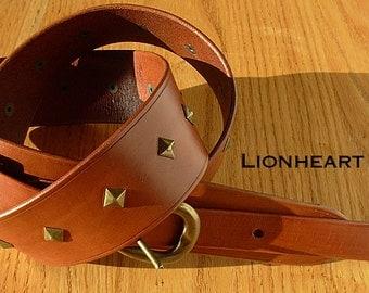 Golden Eagle Leather Guitar Strap
