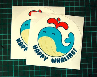 Happy Whaling! vinyl sticker